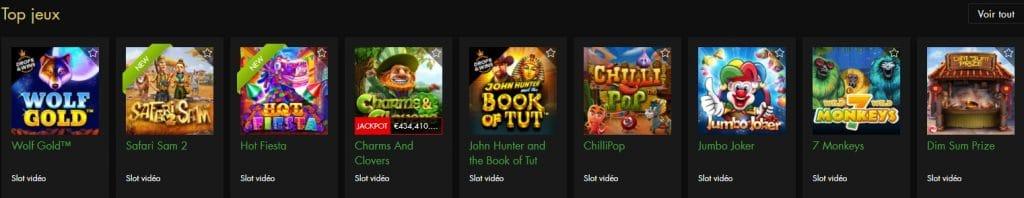 Les catégories de jeux