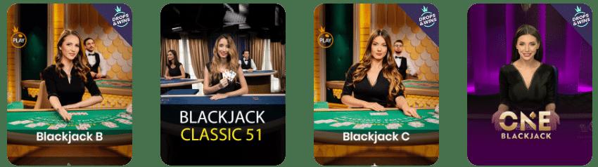 Casino Wild Fortune Blackjack en Direct